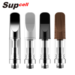 Top Filling Supcell SCC10 No Wick Leak-Proof Ceramic Coils 1ml Glass Vape Cartridge