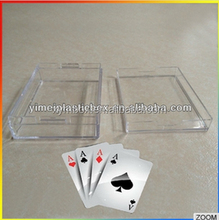 Custom All clear and Hard/Rigid plastic playing card box