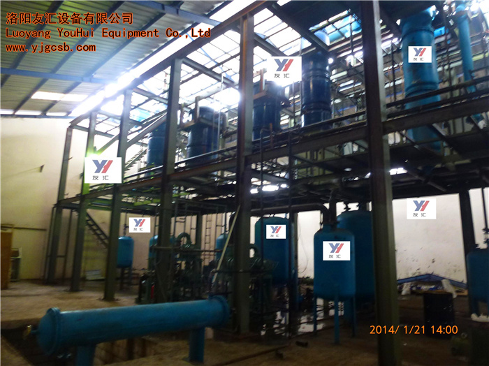 Molecular distillation waste tyre recycling plant to oil Crude oil mud out of diesel