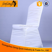Manufacturer Ruffled Spandex Chair Cover for Wedding Banquet in Guangzhou
