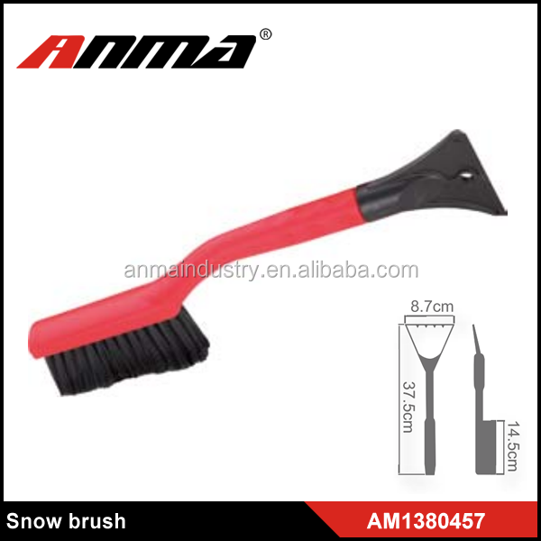 PP handle car microfiber wash brush with ice scraper