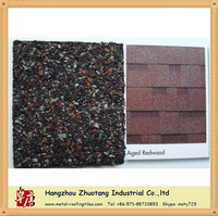 Aged red color meet America / Canada standard Asphalt Shingle factory