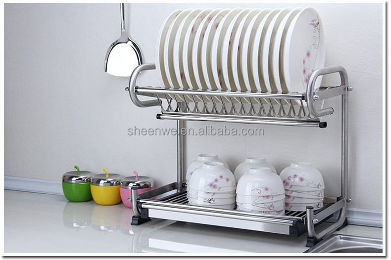 WDJ 440 Guangzhou Wall mounted Stainless steel kitchen dish drying rack