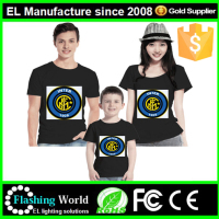 summer popular el tshirt colorful flashing el t-shirt for Christmas