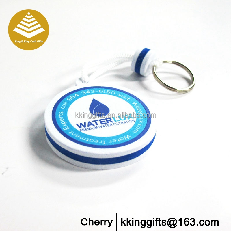 Sports meet gifts cheap custom fashion floating eva foam keychain promotional