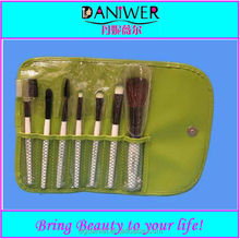 China 7pcs cosmetic makeup brush set kit with makeup bag