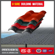 high effective ASA coated tiles design house deco flexible plastic sheets pvc synthetic resin roof tile