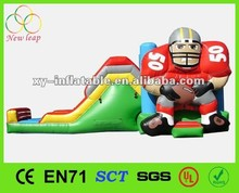 Summer Hot Item Football Combination bouncer/ inflatable combo