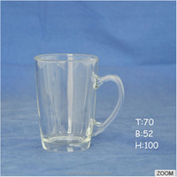 High Quality Customized logo Glass beer mug with hande glass mug beer mug