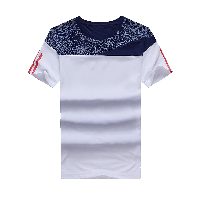 High Quality Clothing Manufacturers Dry Fit Geometric Printed Running Mens Tshirts