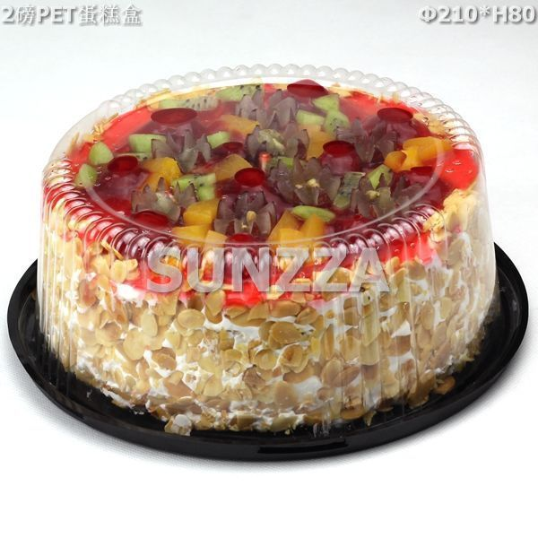 manufacturing disposable plastic transparent round cake packing box/container/tray