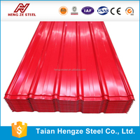 Building materila Galvanized corrugated steel roof sheet