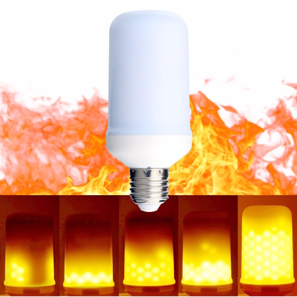 Home Decorative Effect Fire <strong>Lamps</strong> E26 E27 6W 500LM LED Led Flickering Flame Bulb For Living Room