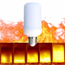Home Decorative Effect Fire Lamps E26 E27 6W 500LM LED Led Flickering Flame Bulb For Living Room