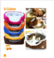 High Quality Pet Dog For Cat Soft Fleece Warm Bed House Plush Cozy Pad Mat Assorted 5 Color