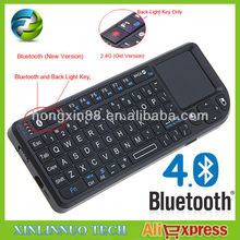 Mini Handheld Wireless Bluetooth Keyboard With Laser Light Pen 82 Keys QWERTY for Android Google Smart TV