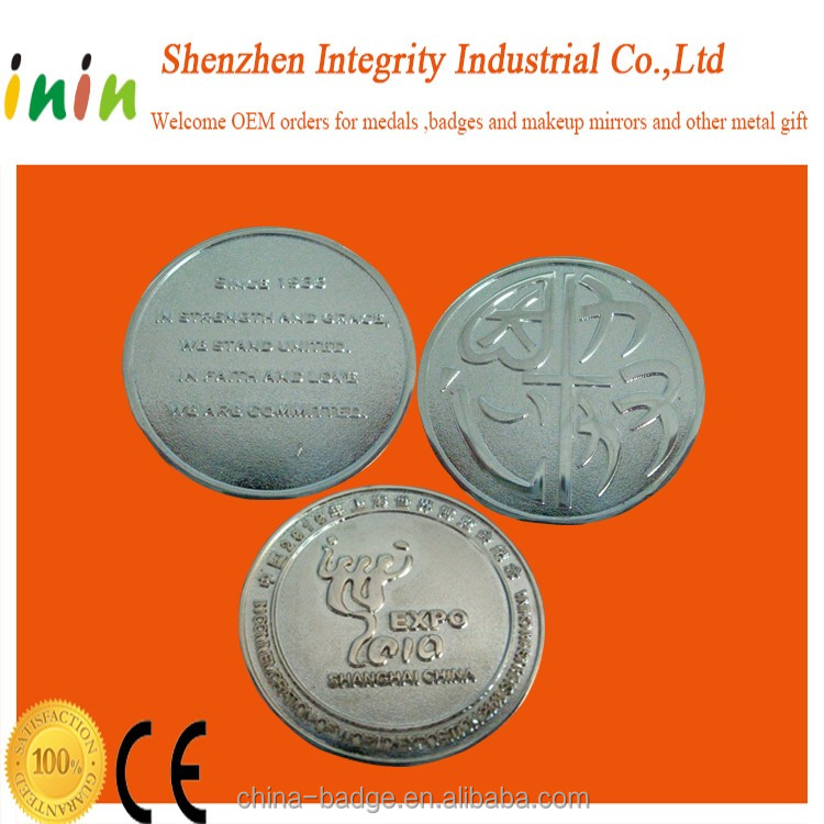 Custom freely design image Euro metal Trolley Coin