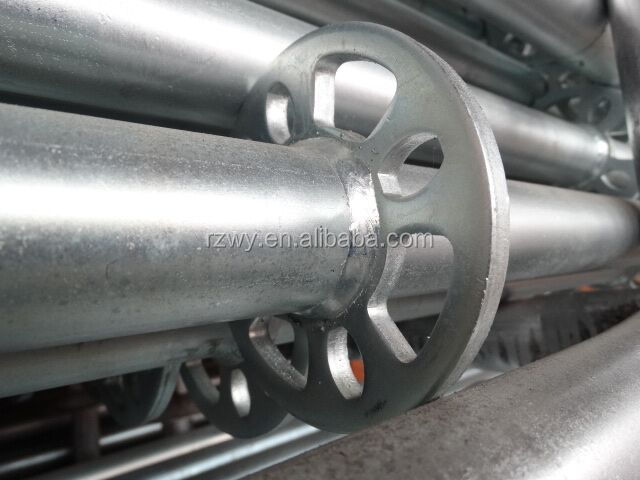 Q345 Q235A B 3.2-3.25mm thickness ringlock scaffold / allround scaffolding
