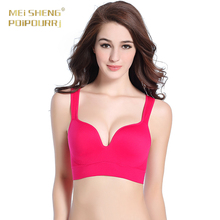 Free Sample Young Girl Very Sexy Hot Adjustable Seamless Push Up Bra