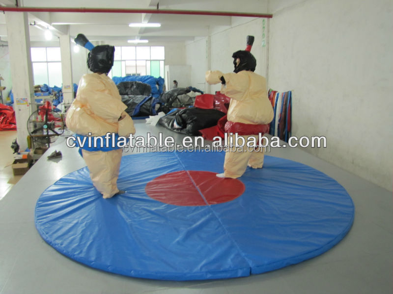Guangzhou China inflatable adult sumo suit, cheap inflatable sumo wrestling suit, foam pad sport games sumo suits rental