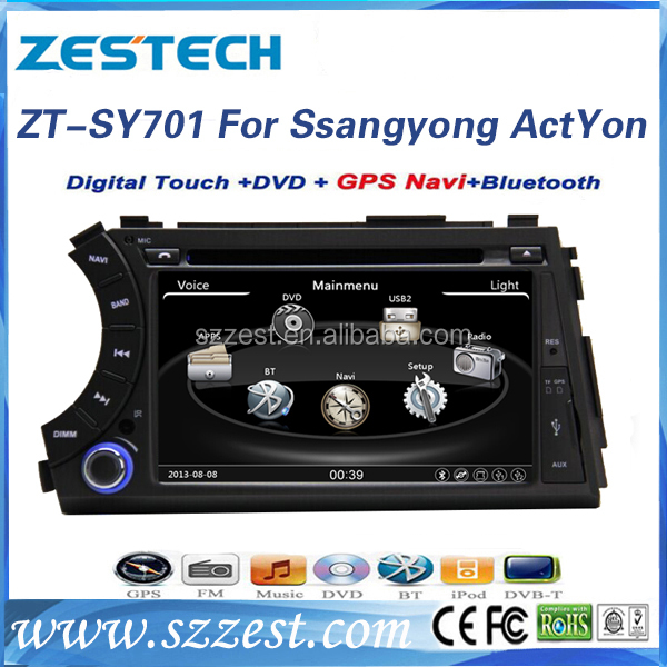 ZESTECH 7 inch wince for ssangyong actyon sports car radio dvd gps navigation system with tv bluetooth