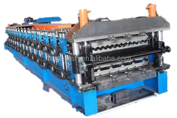 Double layer roofing sheet color steel cold roll forming machine
