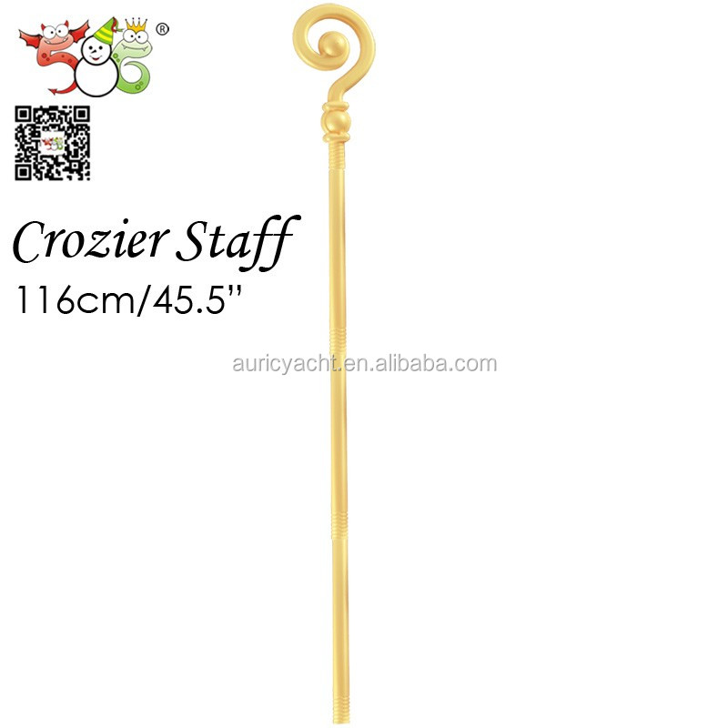 Wholesales party decoration for Halloween crozier staff,bishop staff