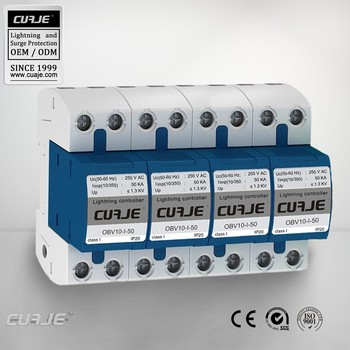 Class1 three phase 50KA surge arrester,surge protector