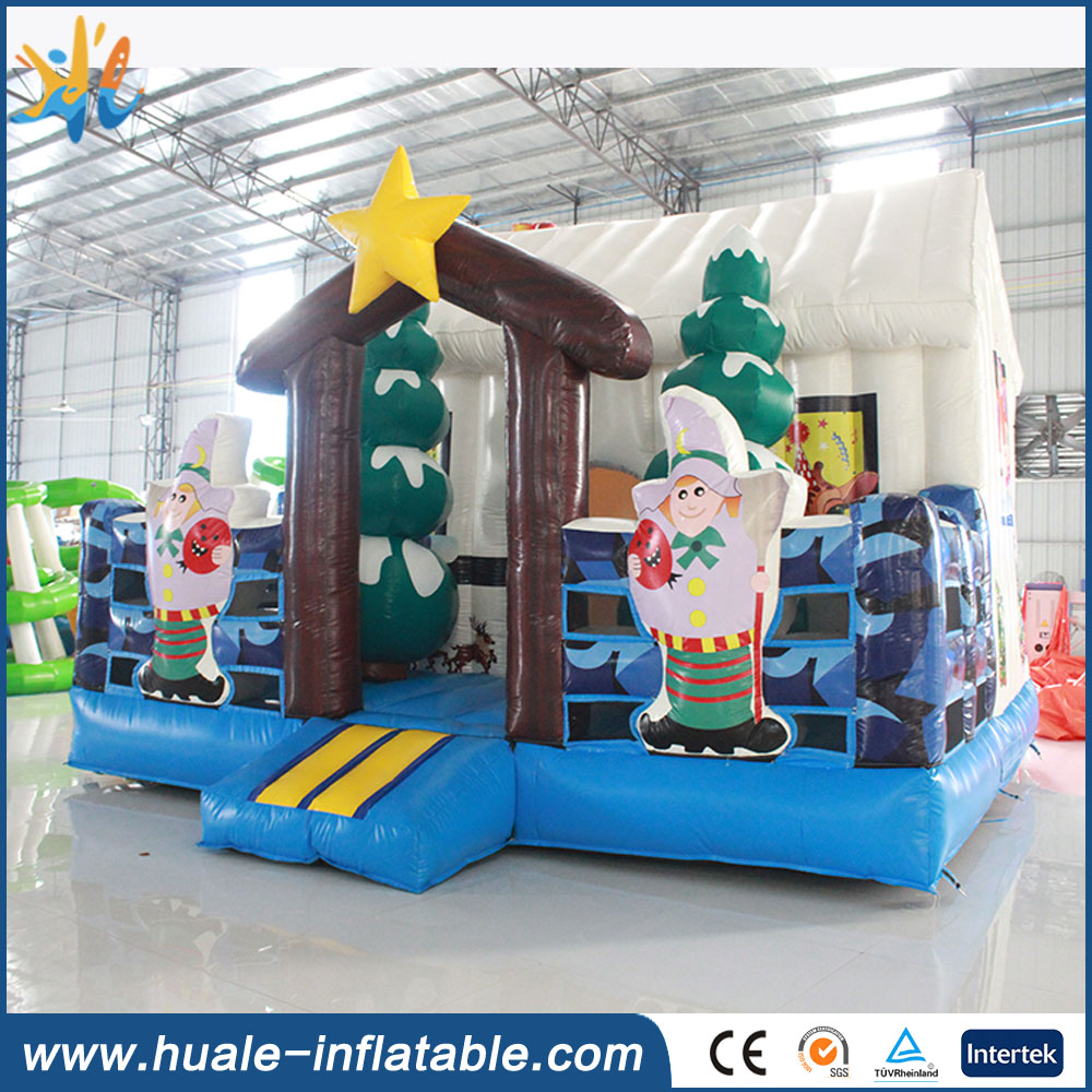 Cheap Christmas inflatable bouncer, giant inflatable castle,christmas inflatables
