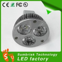 Factory wholesale 3w 6w 9w MR15 led spot light