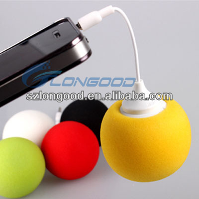 New 3.5 mm Mini Cute Portable Ball Speaker Audio Dock Music For iPhone 4 4S 5 5S