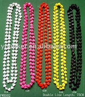 Plastic beads chain necklace