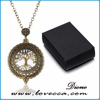 Gold plating jewelry tree of life round magnifier necklace pendant