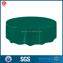 Wedding wholesale round high quality solid plastic table cover