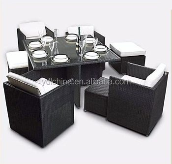 modern glass dinner table and chairs