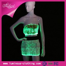 New design optic fiber fashion sexy young girl summer party dress
