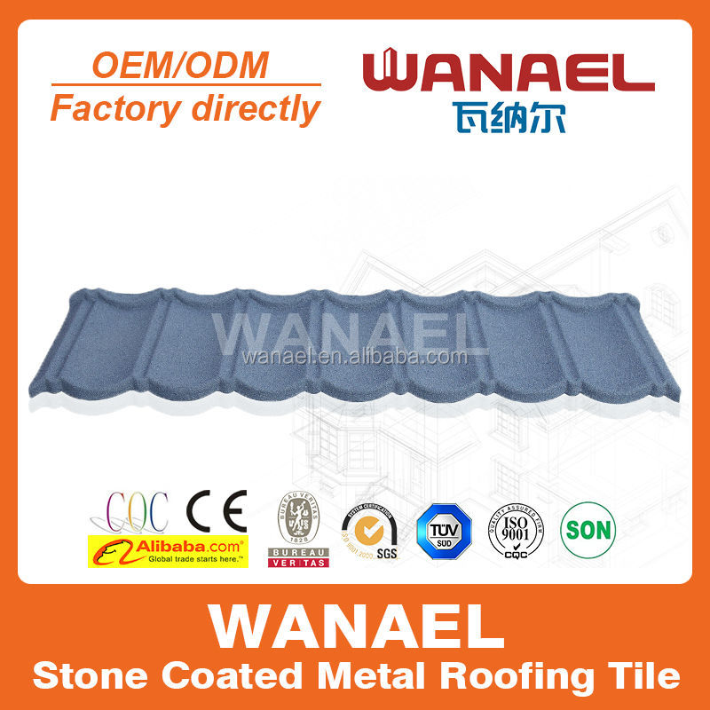 decorative building material/ Classical stone coated metal roof/colourful stone coated metal roofing tile
