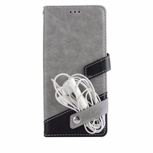 Litchi Pattern Splicing Earphone Holder Wallet TPU Inside For Huawei Mate 10 Leather Case With Card Holder