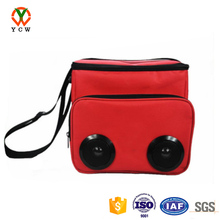Cooler bag with built in speakers thermal delivery bag ice packing polyester nylon lunch bag