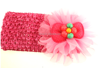 Elastic Soft Headband, Fancy Baby Headband, crochet flower headband