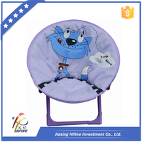 2016 hot sales children's folding moon chair