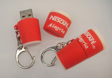 Custom made coffee cup usb model usb 2.0 memory flash stick thumb pen drive for New Starbucks Nescafecoffee cup usb gifts
