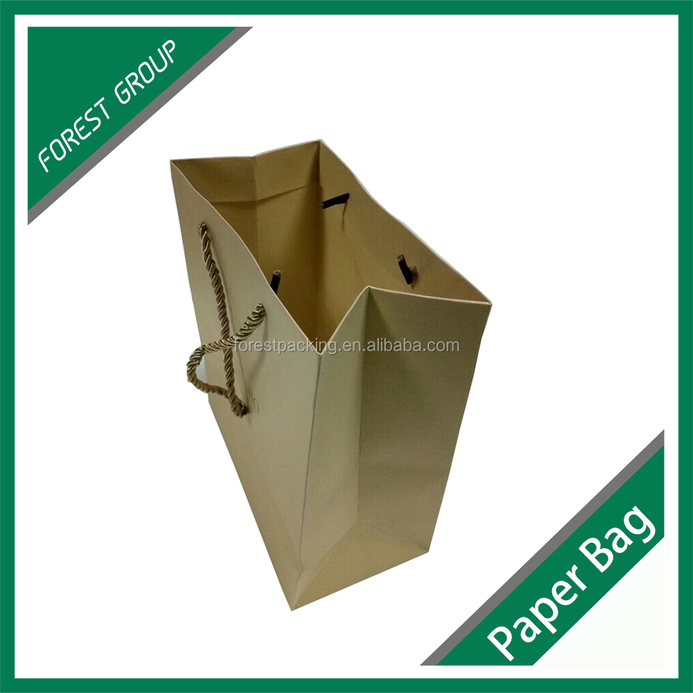 CUSTOMIZED DESIGN BROWN KRAFT PAPER BAG CHEAPEST SHOPPING PAPER BAG FOR GIFTS PACKAGING WITH HANDLE