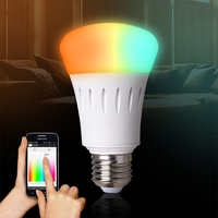2016 RF Control Modern Style Smart Home LED Bulb Lighting 7W Multi Color Control By Wift Phone App