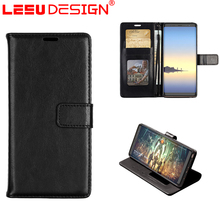 LEEU DESIGN 3 Card Slots cell phone case for samsung flip leather case cover for note 8