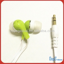 Hottest flat cable earphone with mic