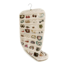 2017 Best selling over the door fabric Hanging Jewelry Organizer wholesale