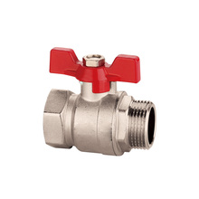 casting iron handle 1.6 mpa middle pressure nickle plated ball valves manual valves handwheel