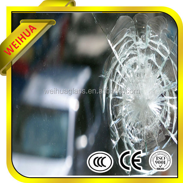 High Quality Toughtened Bulletproof Car Glass with CE/CCC/ISO9001