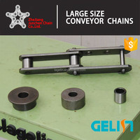 3 types of roller high hardness double pitch conveyor chain (M series )